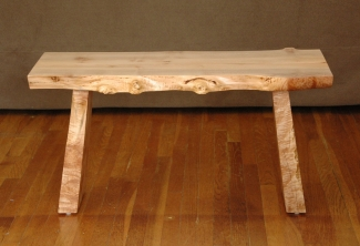 Big-Leaf-Maple-Live-Edge-Bench-front-view
