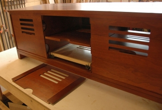 American-Cherry-Media-Console-with removable-back