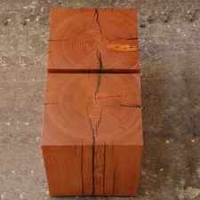 Reclaimed-Doug-Fir-Bookmatched-Top-Beam-Stools-End-Tables