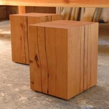 Reclaimed-Doug-Fir-Large-Beam-Stools-End-Tables