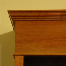 American-Cherry-Bookshelf-Hutch-crown-detail