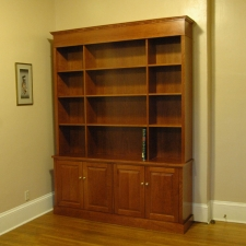 American-Cherry-Bookshelf-Hutch