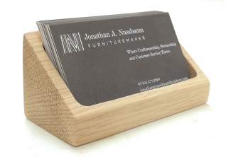Oregon White Oak Business Card Holder