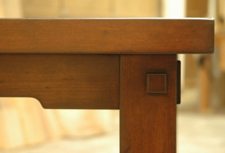 American Cherry Kitchen Table & Bench with Through Tenons