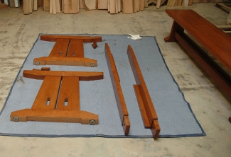 American-Cherry-Trestle-Table-Parts-as-shipped
