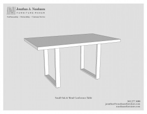 Oregon-White-Oak-and-Metal-36x60-Conference-Table