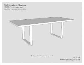 Oregon-White-Oak-and-Metal-40x90-Conference-Table
