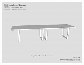 Oregon-White-Oak-and-Metal-48x144-Conference-Table