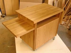 Oregon-White-Oak-Kitchen-Cart-one-flip-up