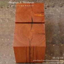 Bookmatched-Top-of-Large-Fir-Beam-Stools-End-Tables