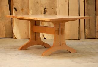 Big Leaf Maple Trestle Table