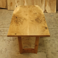 Oregon-White-Oak-Dining-Table-top-view