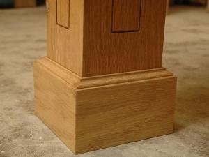 Oregon-White-Table-Leg-with-Hidden-Caster