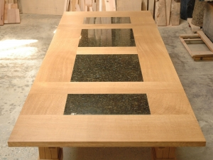Oregon-White-Oak-Table-with-Granite-Panels