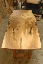 Oregon-White-Oak-Counter-Height-Wine-Tasting-Table-top-view