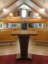 Oregon-White-Oak-Pulpit-in-Church