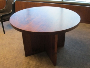 American Cherry Round Knock Down Table