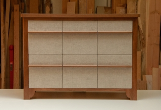 American-Cherry-Six-Drawer-Record-Storage-with-Acoustic-Fabric-Drawer-Fonts