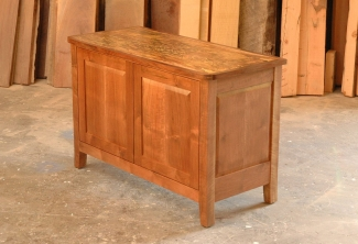 Spalted-Big-Leaf-Maple-and-Western-Walnut-Media-Console-angle