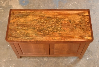 Spalted-Maple-Western Walnut-Media-Console-top