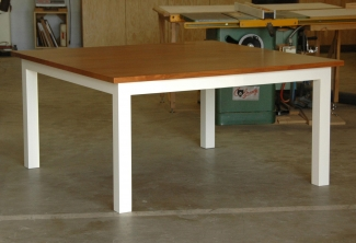 Big-Leaf-Maple-Stained-Painted-Square-Dining-Table