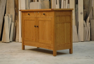 American-Cherry-Sideboard-Cabinet-angled-view