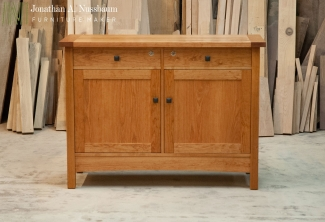American-Cherry-Sideboard-Cabinet-front-view