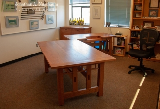 American-Cherry-Sidebaord-Work-Table-and-Computer-Desk