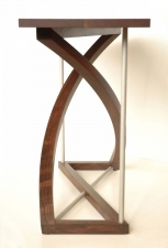Twist-Western-Walnut-and-bead-blasted-aluminum-entry-table-end