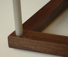 Twist-Western-Walnut-and-bead-blasted-aluminum-detail