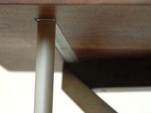Twist-Western-Walnut-and-bead-blasted-aluminum-entry-table-underside-detail