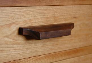 Walnut-Drawer-pull-on-American-Cherry-Desk