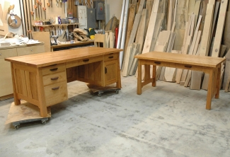 American Cherry Two Piece Office Set