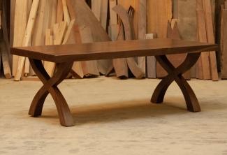 Western-Walnut-X-Base-Coffee-Table-table-angled