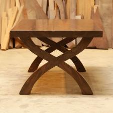 Western-Walnut-X-Base-Coffee-Table-end-view