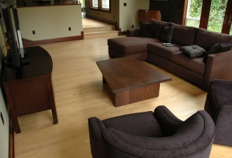 Western-Walnut-Trapezoid-Coffee-Table-end-view