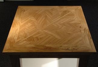 Oregon-White-Oak-Leaf-Inlay-End-Table