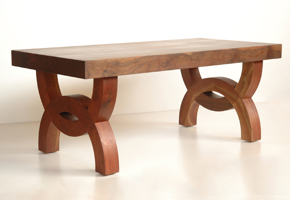 Picture of Western Walnut Eloise Coffee Table/Bench shop drawing fades to