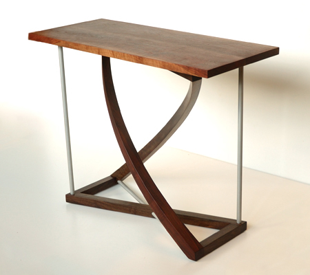 Picture Western Walnut Twist Entry Table shop drawing fades to